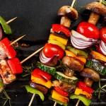 Ražnjići s gljivama, rajčicama i tikvicama