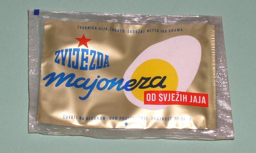 Production of mayonnaise in foil began